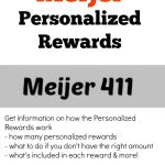 Meijer Personalized Rewards and how it works