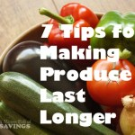 Keep your produce longer with these easy tips: 7 Tips for Making Produce Last Longer