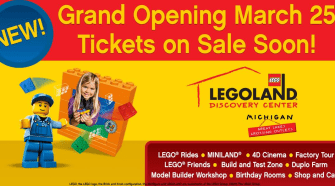 LEGOLAND® Discovery Center Michigan Opening Soon