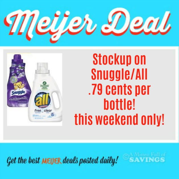 Meijer Deal All Snuggle Deals 3 Day Sale Stockup