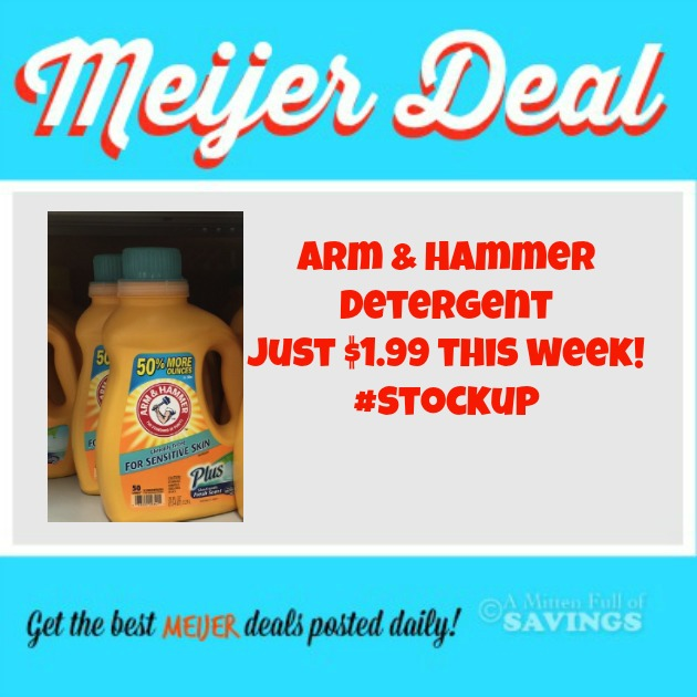 Meijer Arm & Hammer Laundry Detergent Just $1.99 This Week