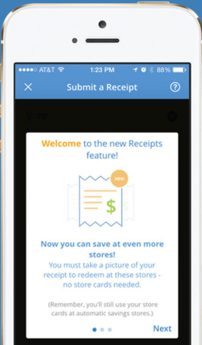 how to submit receipts for savingstar