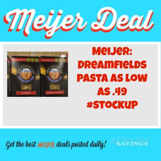 Meijer Dreamfields Pasta as low as .49