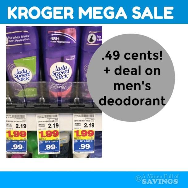 Kroger MEGA: Speedstick or Lady Speedstick Deals #stockupa
