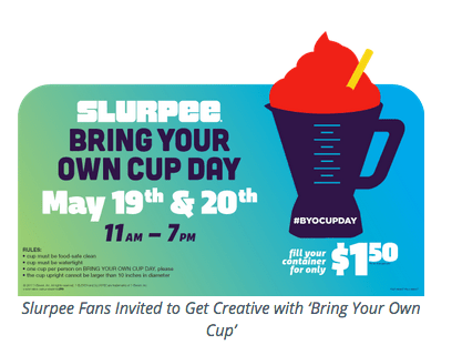 7-Eleven Bring Your Own Cup Is Back This Weekend
