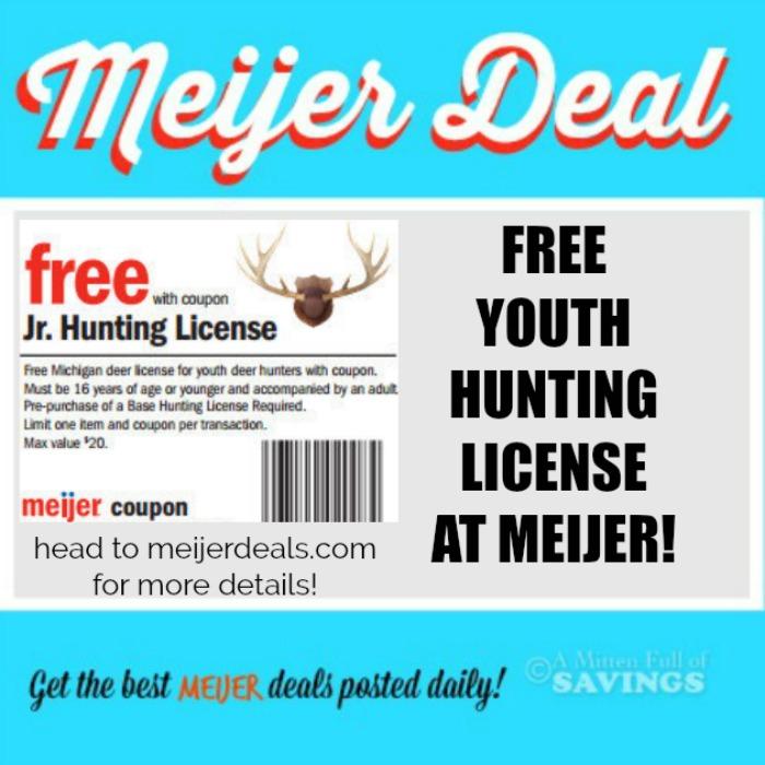 Free Michigan Junior Deer Hunting Licenses at Meijer This Week