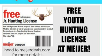 FREE Youth Hunting License at Meijer