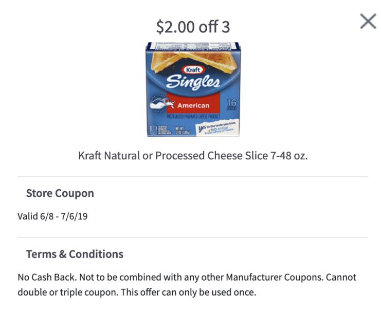 Kraft Singles mPerk coupon