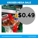 Kroger MEGA: Cooked Perfect Meatballs Just 49 cents #stockup