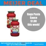 Ragu Pasta Sauce deal at Meijer
