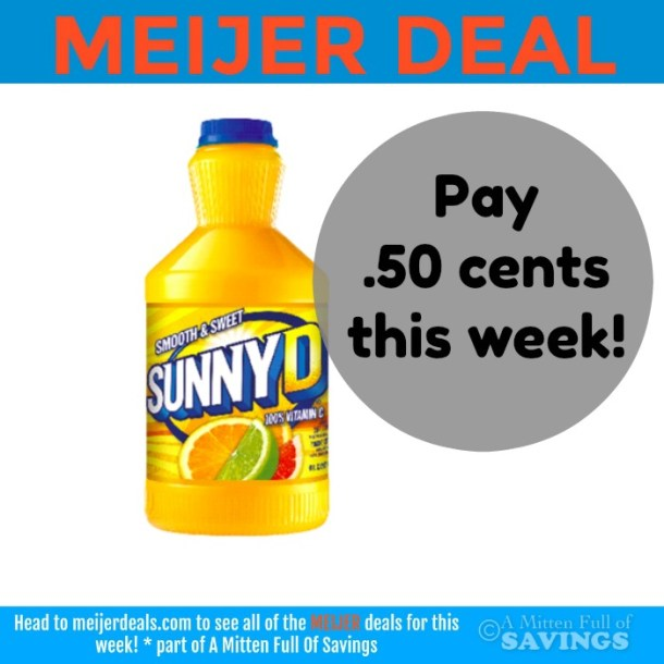 Meijer: Grab Sunny D for .50 cents this week