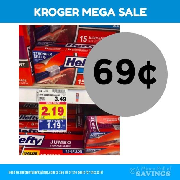 Kroger MEGA: Hefty Slider bags for only 69 cents