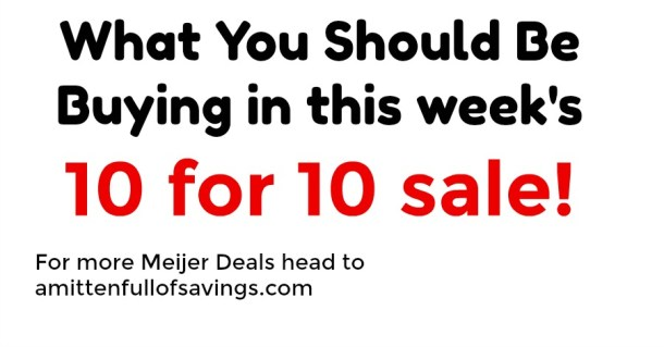 10 for 10 sale at Meijer