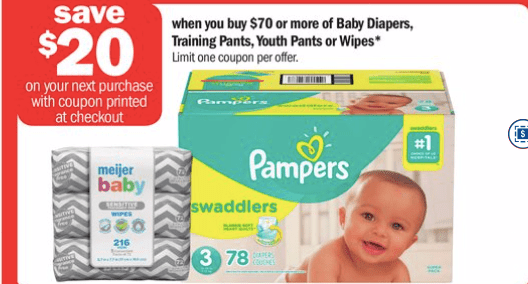 Pampers Catalina offer at Meijer