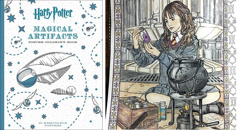 Amazon Deal: Harry Potter Magical Artifacts Poster Coloring ...