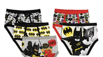 LEGO Boys' Batman 5-Pack Brief- just $5.00!