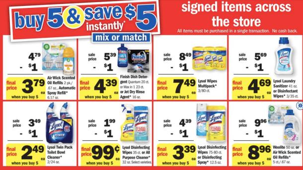 Meijer: Lysol Buy 5, Save $5 Sale This Week