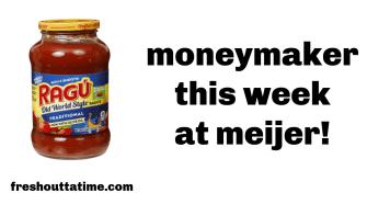 ragu moneymaker deal at Meijer