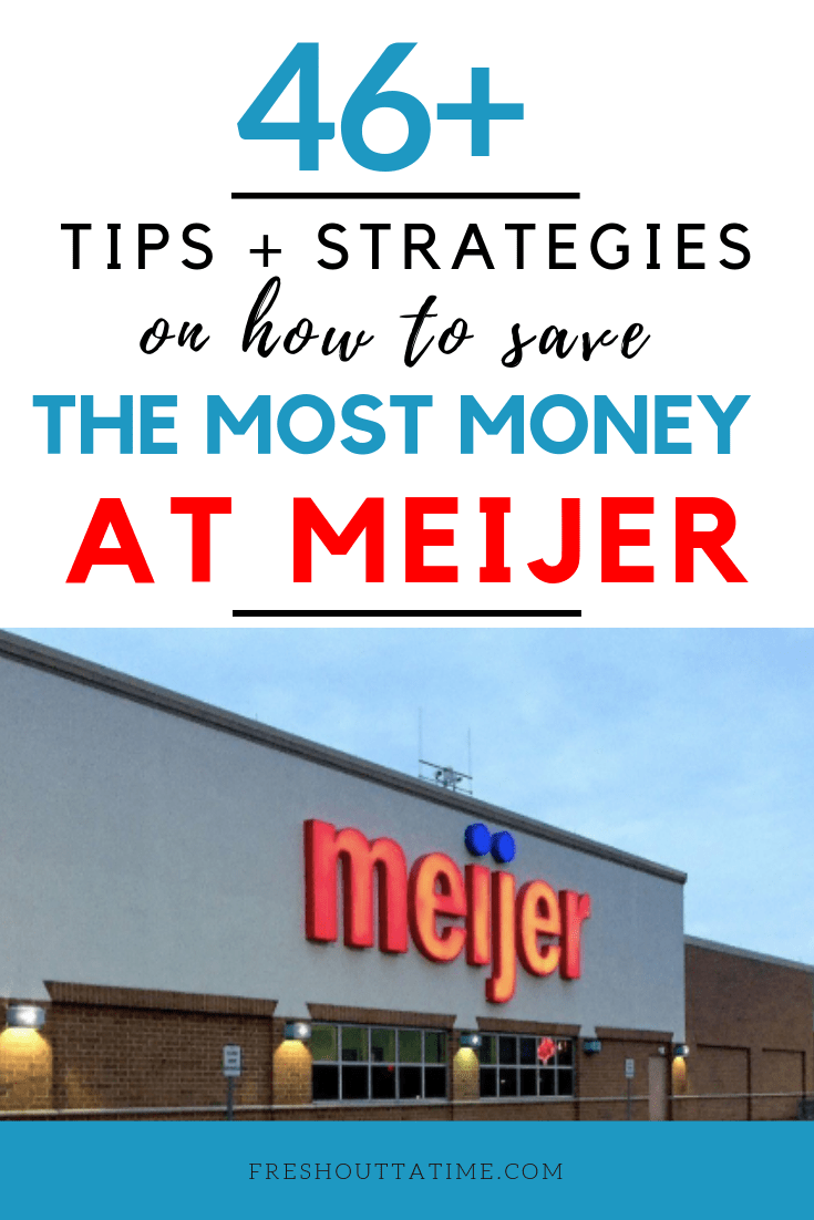 Are you a Meijer shopper? Then you need to read these best tips and strategies on how to save money at Meijer. Get the best bang for your buck when shopping at Meijer when you following these saving strategies.