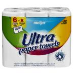 Meijer Ultra Paper Towels, 6 big rolls- $3.99