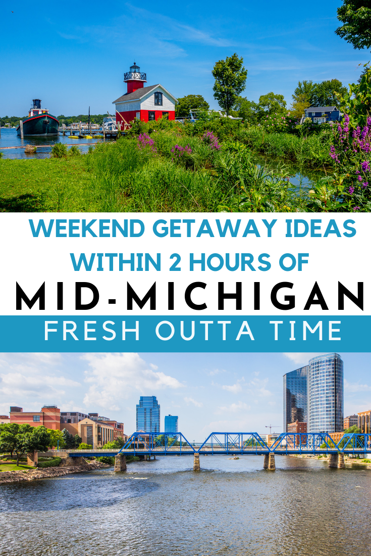 Plan a quick weekend getaway within two hours of Mid-Michigan with some of these getaway ideas on the blog. From Ann Arbor to Grand Rapids, you can find quite a bit to do within a few hours from the Lansing area. .
