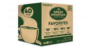 Grab Green Mountain K-Cups 40 count for $12.99 {$0.32 per cup}