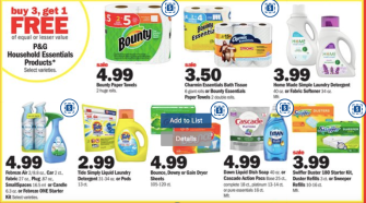 Detergent deals at Meijer