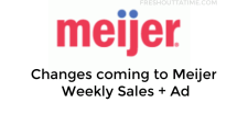 Changes coming to Meijer Weekly Sales + Ad