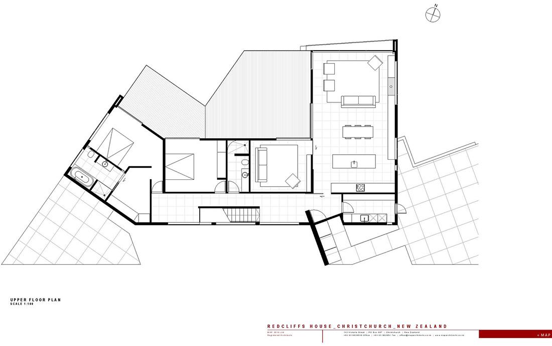 Upper Floor Plan Redcliffs House Christchurch New