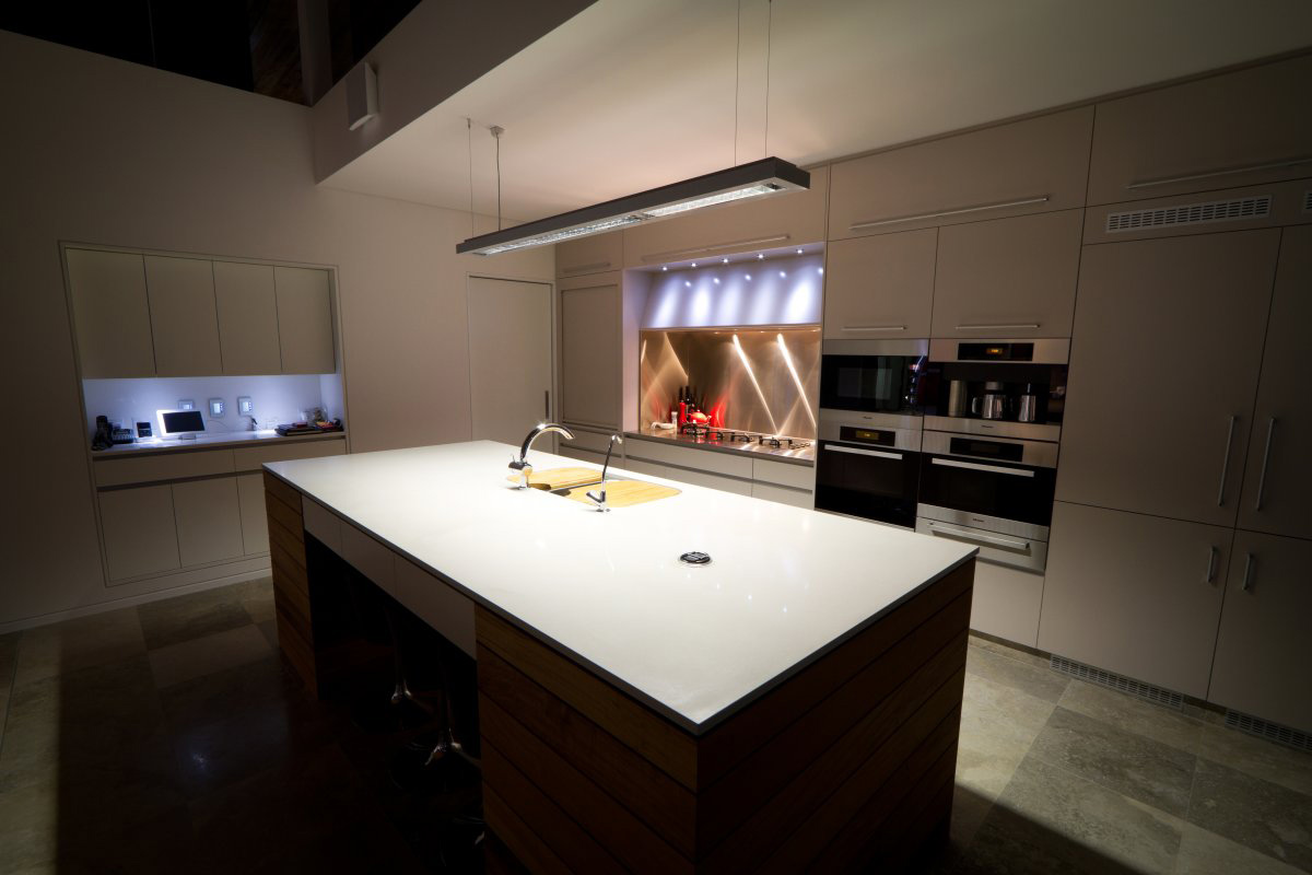 Kitchen Island, Marble Floor, The 24 House in Dunsborough, Australia