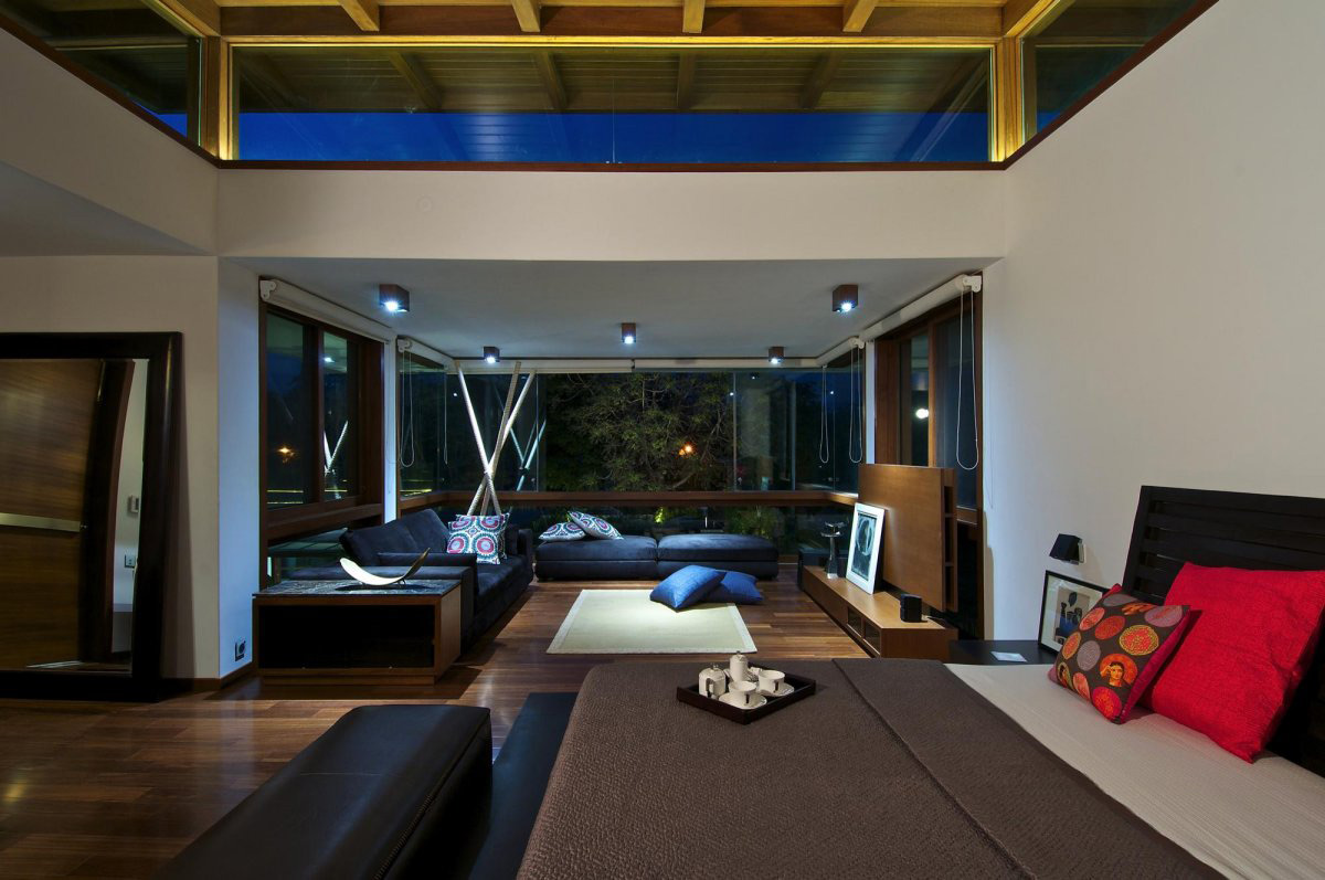 Bedroom Living Space Courtyard House By Hiren Patel
