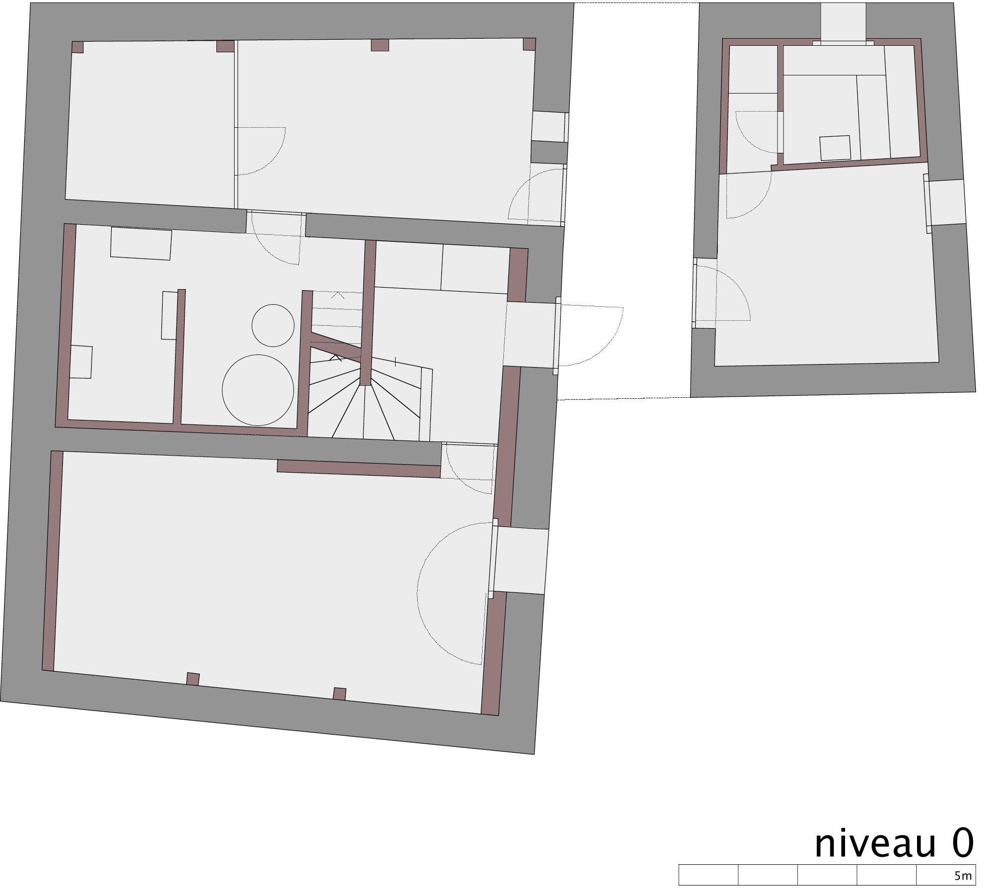 Ground Floor Plan, Renovation in Chamoson, Switzerland by Savioz Fabrizzi Architecte
