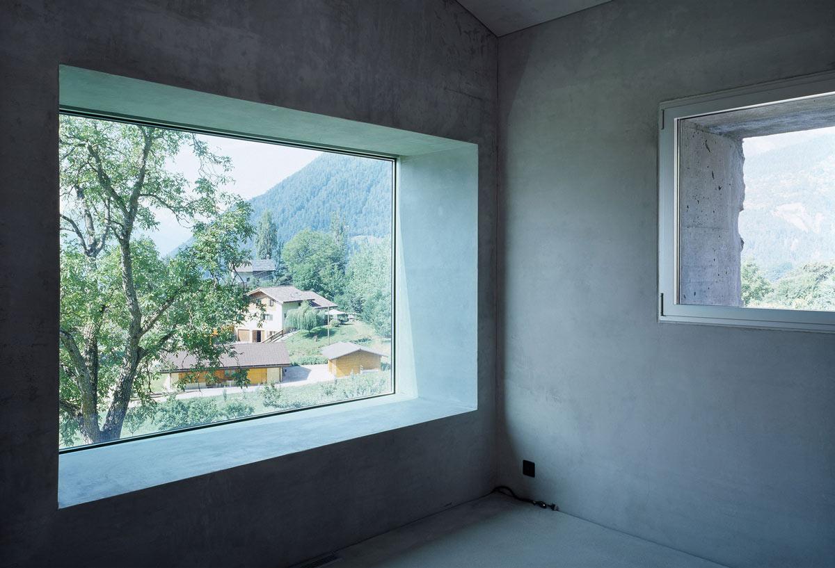 Large Window, Renovation in Chamoson, Switzerland by Savioz Fabrizzi Architecte