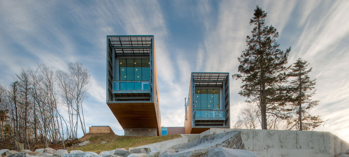 Cantilevered Family Home in Port Mouton, Nova Scotia