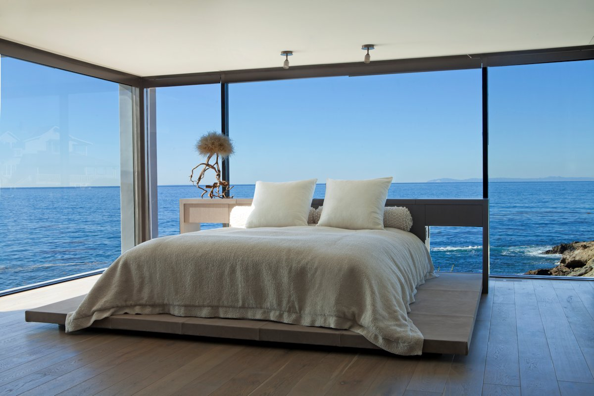 Bedroom Glass Walls Ocean Views Beach House In Laguna Beach California Fresh Palace
