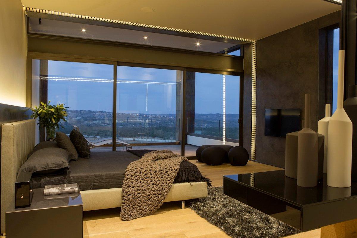 Dark Bedroom Rug Balcony Modern Residence In Pretoria