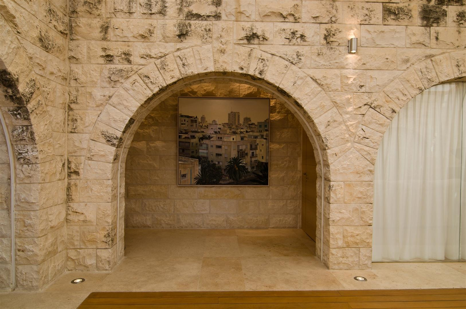 Stone Arches Art Contemporary Stone House In Jerusalem