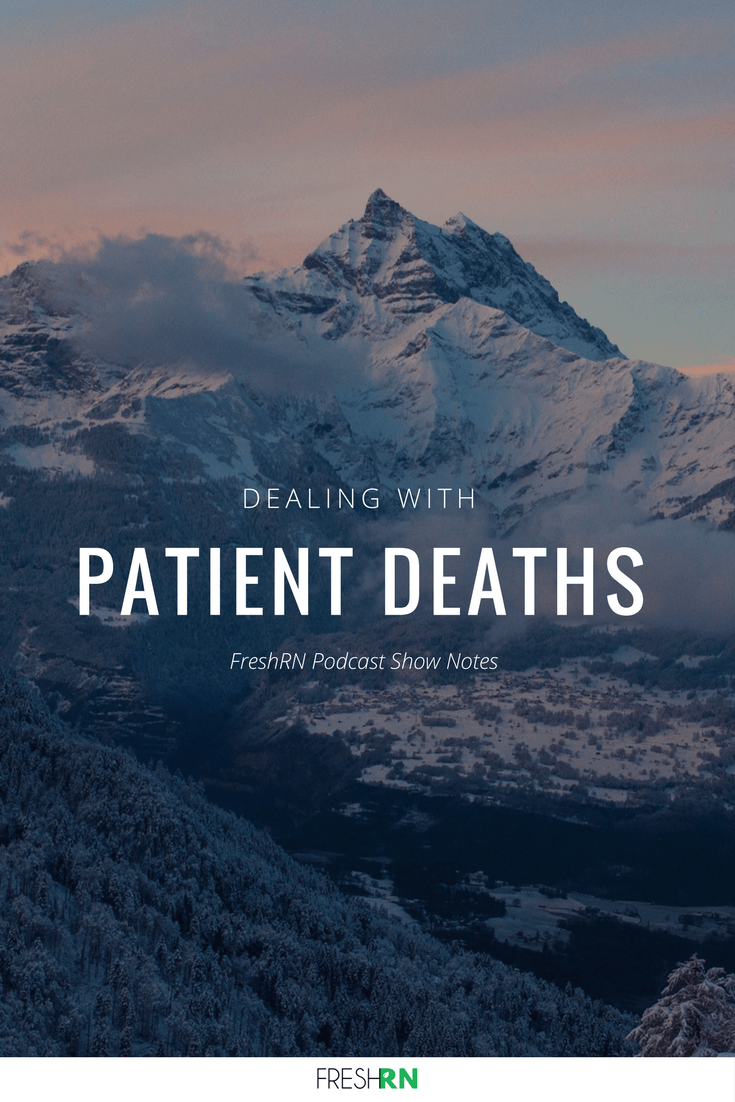 This episode discusses dealing with patient deaths as it is happening right in front of your eyes, with tips for processing your emotions at home.