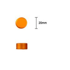 20mm Metal Ring Groove Cap - Matt Gold - Bottles & Jar Accessories - Ring Grooved Caps