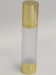 Frosted & Gold Chrome 50ml With Cap - Airless Serum Bottles