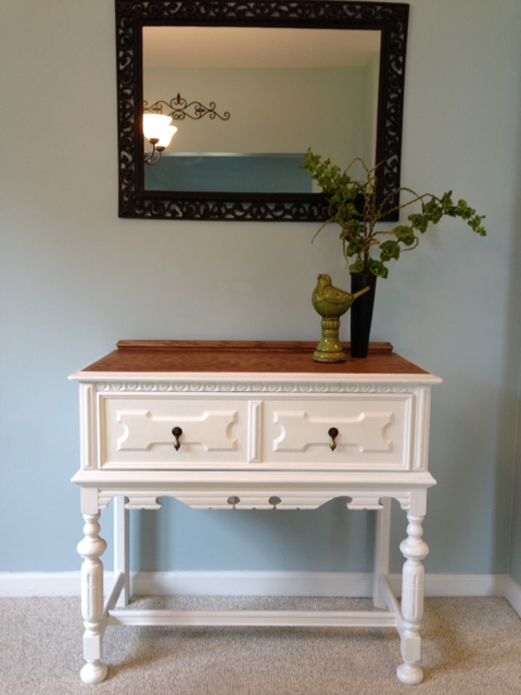 Foyer Table Oak : Oak foyer table fresh vintage nc