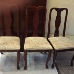 Set Of 3 Vintage Cherry Upholstered Chairs Fresh Vintage Nc
