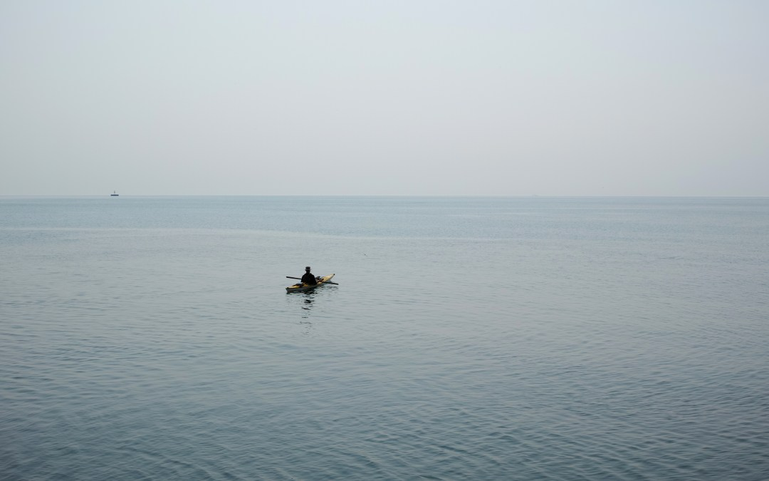 Kayaking on Lake Michigan