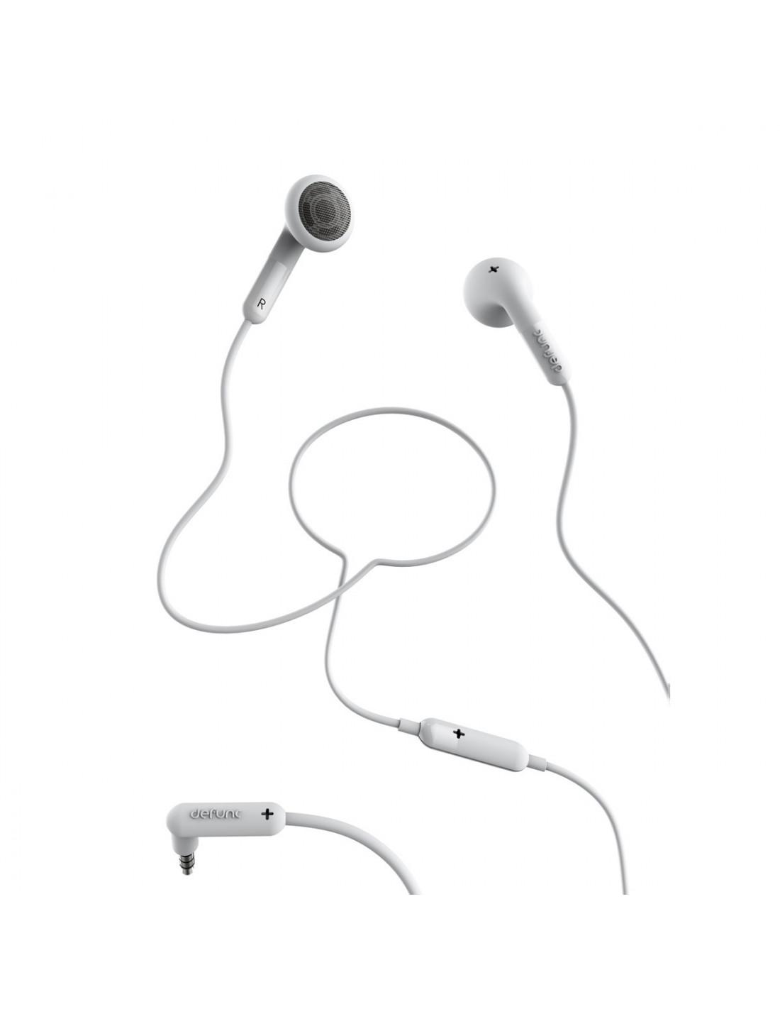 Defunc Talk Auriculares Con Cable Jack 3 5 Mm Blancos