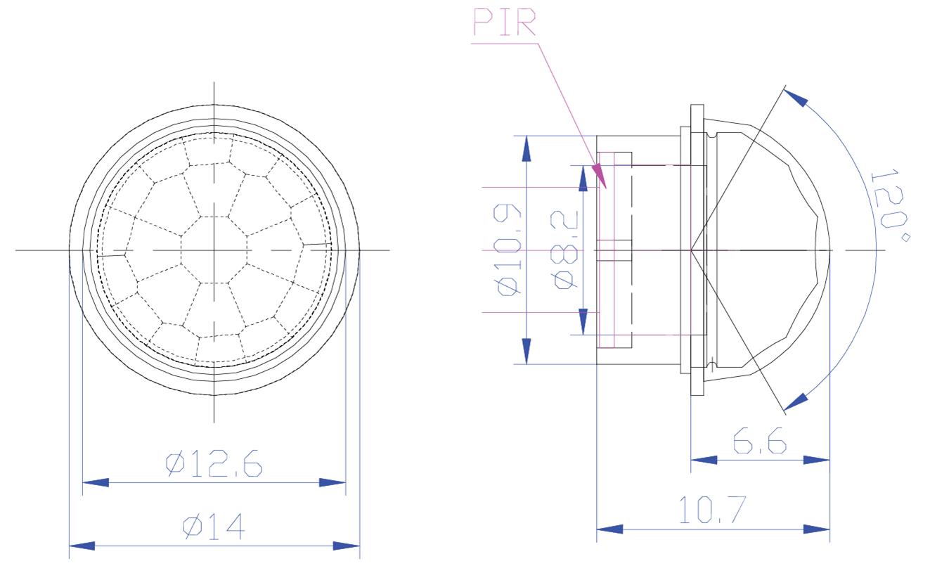 Fresnel Lens Pd06 Pyroelectric Infrared Sensor Human Detector Pir Motion