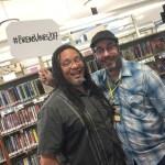 Fresno's poet laureate Bryan Medina at Brews & Vines in the Library