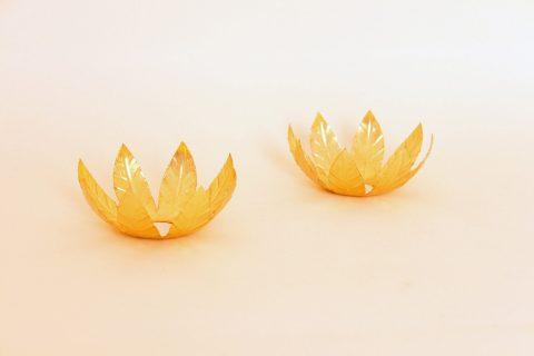 ´Bobèche´ em folha de flandres, dourado