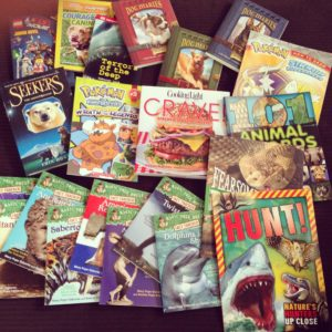 Our own Scholastic sale spoils!