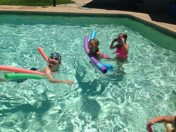 Swimming with friends is the best!
