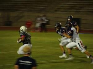 Matt Arroyo with ground and pound running.